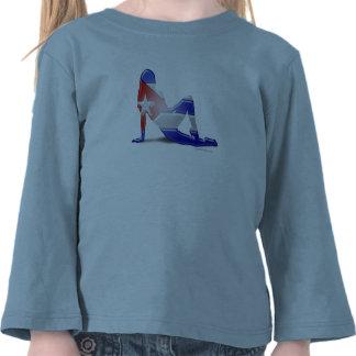 Cuban Girl Silhouette Flag Tshirts