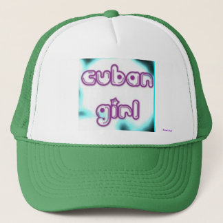 Cuban Girl Tag Trucker Hat