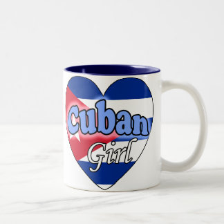 Cuban Girl Two-Tone Coffee Mug