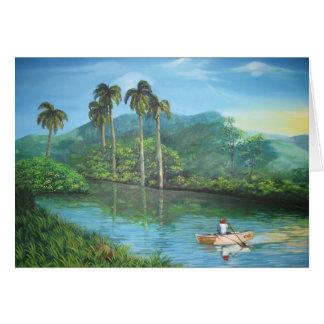 Cuban landscape card