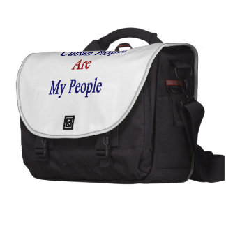Cuban People Are My People Laptop Messenger Bag