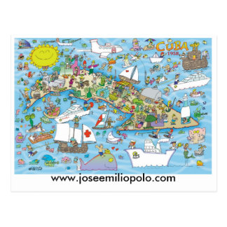 Cuban postcard, www.joseemiliopolo.com postcard