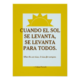 Cuban Proverb Poster