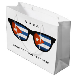 Cuban Shades custom text & color gift bag