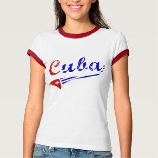 Cuban shirt with cuban flag
