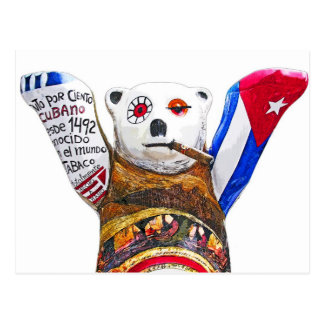 Cuban Teddy Bear with Cigar, White Back(pst) Postcard