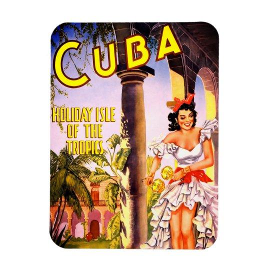 Cuban Travel Poster Rectangular Photo Magnet