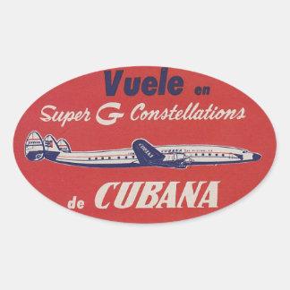 Cubana Constellation Retro Luggage Sticker