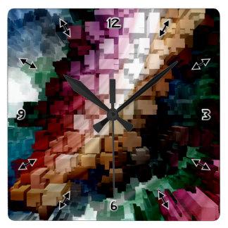 Cube Centric Dark Wind Square Wall Clock