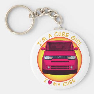 Cube Girl Key Chain