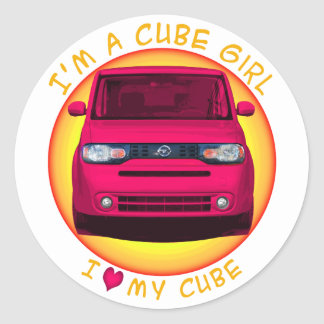 Cube Girl Stickers