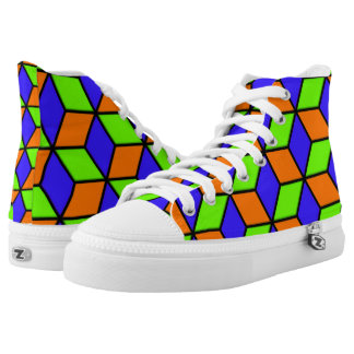 Cube Look Printed Shoes