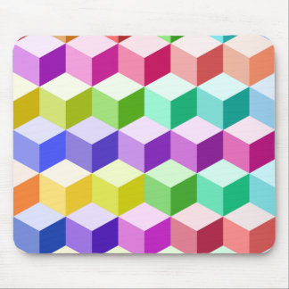 Cube Pattern Multicolored Mouse Pad