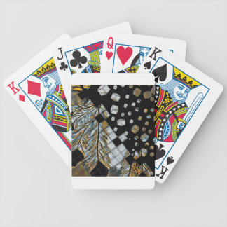 Cubed Abstract Feathers Bicycle Playing Cards