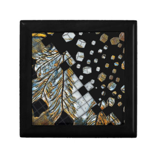 Cubed Abstract Feathers Gift Box