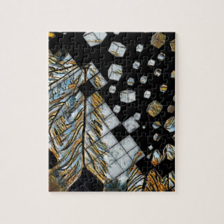 Cubed Abstract Feathers Jigsaw Puzzle