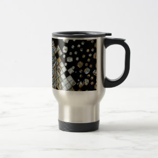 Cubed Abstract Feathers Travel Mug