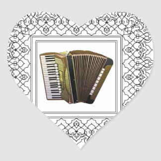 cubed accordion heart sticker