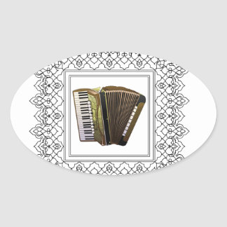 cubed accordion oval sticker
