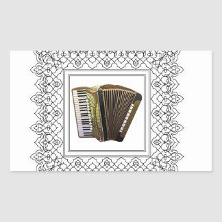 cubed accordion rectangular sticker