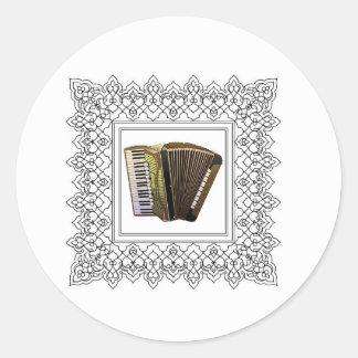 cubed accordion round sticker