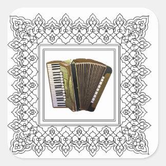 cubed accordion square sticker