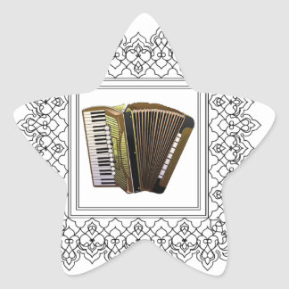 cubed accordion star sticker