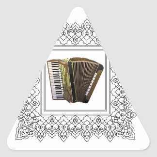 cubed accordion triangle sticker