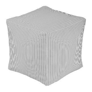 Cubed Comforter, Monochrome Grey Stripe Design Pouf