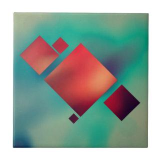 Cubed In Surrealism Ceramic Tile