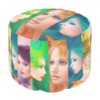 Cubed Pouf  Fantasy Women