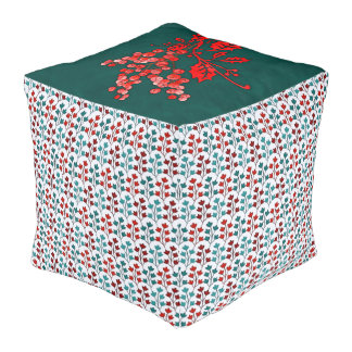 Cubed Pouf Winter Design