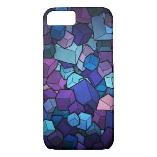cubes blue Geometric Colorful iPhone 8/7 Case