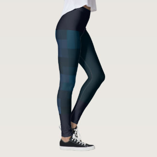 cubes dark blue Leggings