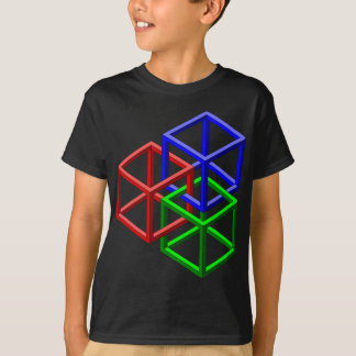 Cubes Impossible Geometry Optical Illusion T-Shirt