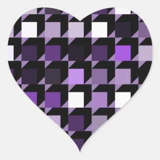 cubes-purple-04 heart sticker
