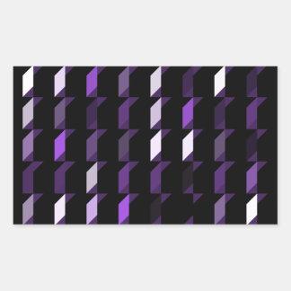 cubes-purple-05 rectangular sticker