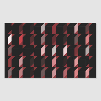cubes-red-05 rectangle sticker