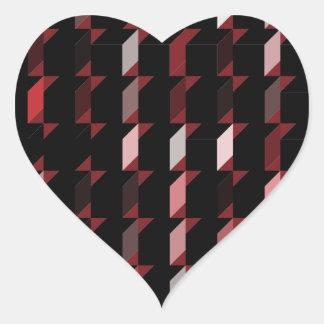 cubes-red-05 heart sticker