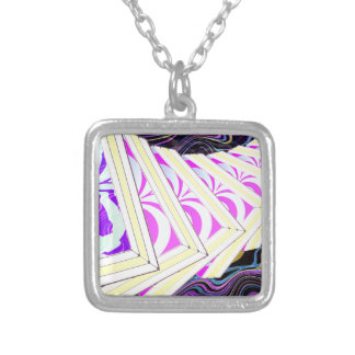 Cubes Silver Plated Necklace