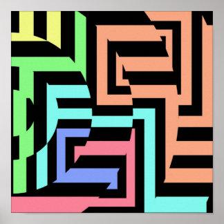 Cubic Circles Casino Art Print
