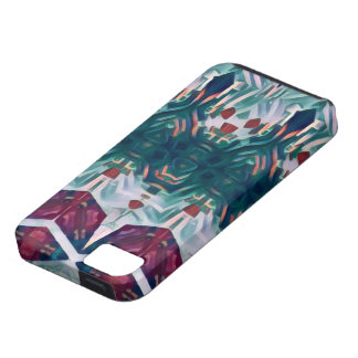 Cubic flowers iPhone 5 cases