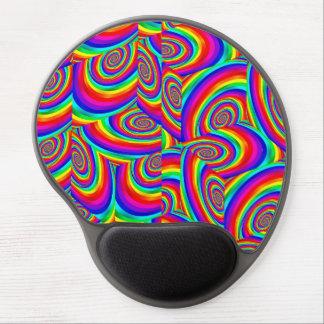 Cubic Rainbow Fractal Gel Mouse Pad