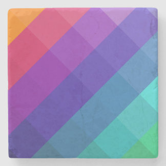 Cubical Colors Stone Coaster