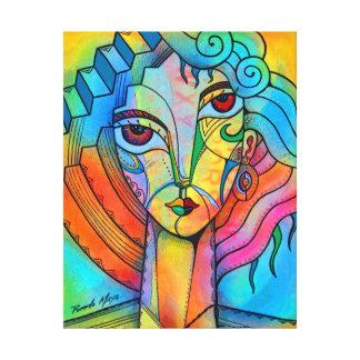 Cubism girl canvas print