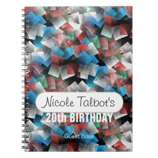Cubist Abstract 20th Birthday Guest Book 1 Note Book