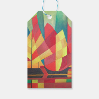 Cubist Abstract of Junk Sails and Ocean Skies Gift Tags