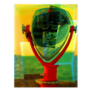 Cubist Binocular Postcard