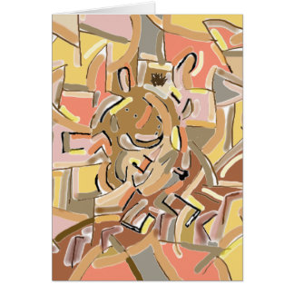 cubist donkey card