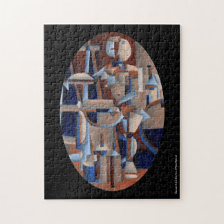 Cubist Figure Rendering Jigsaw Puzzle